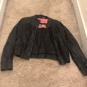 Nordstrom faux leather jacket size large